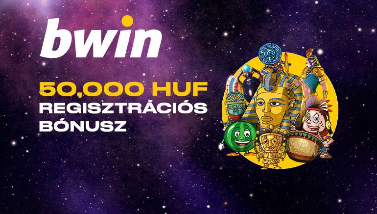 Bwin Casino - ÜDVÖZLŐ BÓNUSZ Ft50000 - 100% Elérési Bónusz