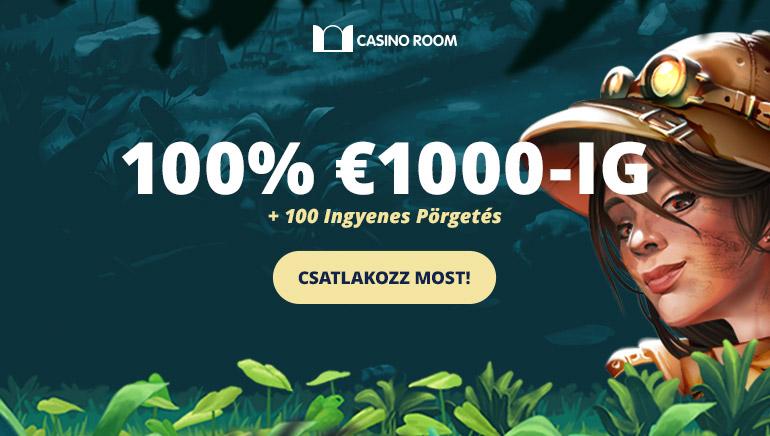 1500 dolláros Üdvözlő Bónusz a Casino Room-nál