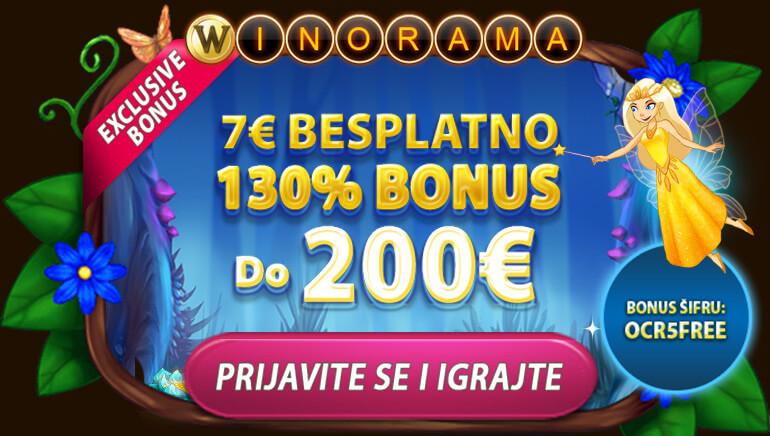 Szerezd meg az INGYEN 7 eurót + 130%-ot, akár 200 eurót a Winorama Casinonál