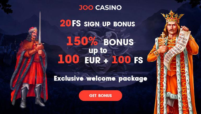 Joo Casino - BONUSZ CSOMAG €450 +INGYENES SPIN BONUSZ 150 Ingyen Nyerőgépek Bónusz + BEFIZETÉS NÉLKÜL FS20 Ingyen Pénz Bónusz
