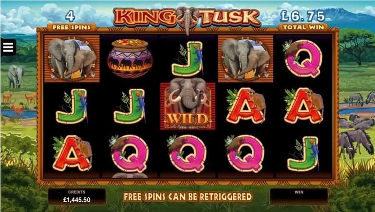 Új elefánt témájú King Tusk nyerőgép a Microgaming Releases-től