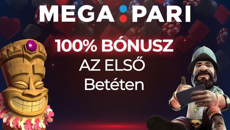 A Megapari Casino 100 Eurós, akár 100%-os Regisztrációs Bónuszt kínál a játékosoknak